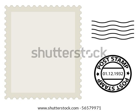 Post Stamp Template Stock Vector (Royalty Free) 56579971 - Shutterstock