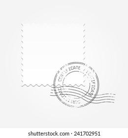 Postage blank vector illustration