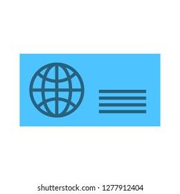 postage card icon - postage card isolate, postcard illustration - Vector postcard