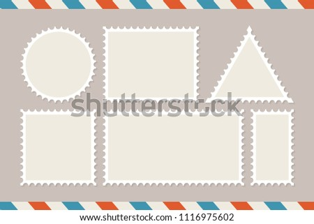 postage stamp template set blank stamps stock vector royalty free