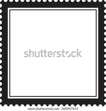 Postage Stamp Vector Frame