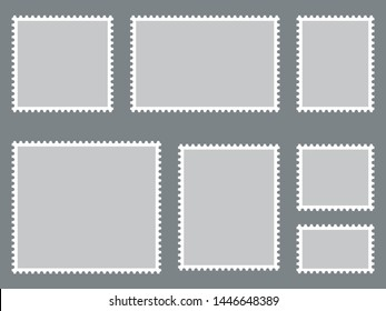 Postage stamps collection. Vector illustration