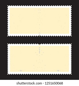 Postage stamps in grunge style. Set of textured postmarks . vector post marks collection.