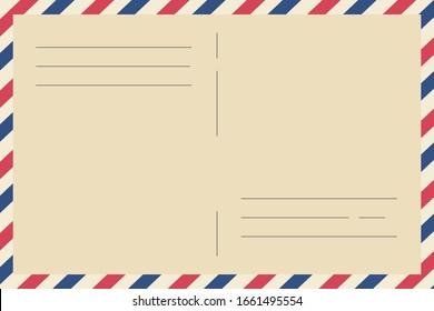 Postal background. Inserts for the letter. Vector illustration