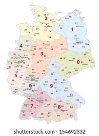 postal codes, germany