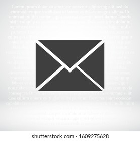 Postal envelope. envelope icon. Vector envelope EPS 10. Flat design. The work is done for your use. work with the background