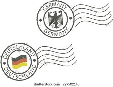 Postal grunge stamps 'Germany'
