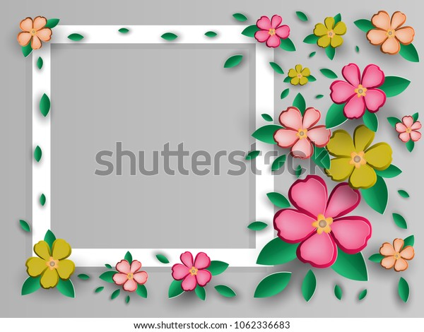 Postcard for any holiday in the style of origami. Vector illustration.