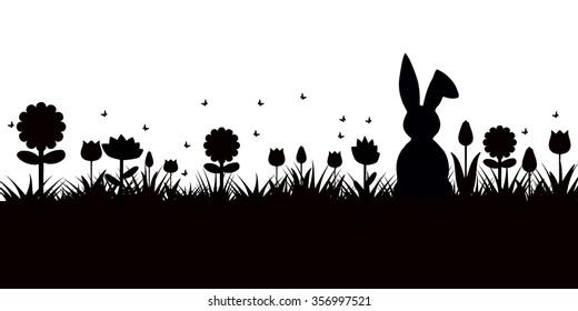 postcard bunny egg