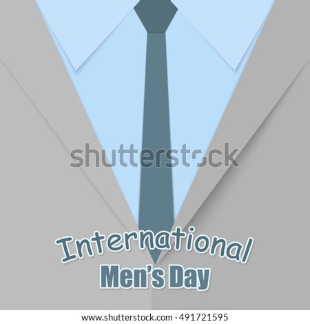 Postcard feast day international mens greetings stock vector postcard to the feast day of the international mens greetings to the mens suit m4hsunfo