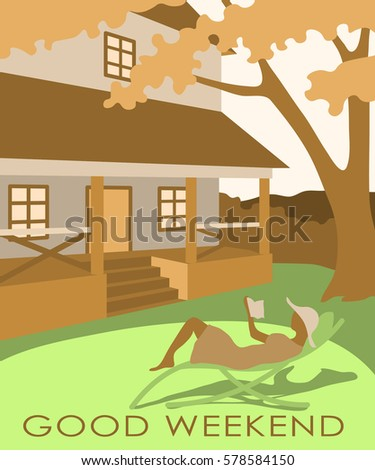 Postcard good weekend series greeting cards stock vector royalty postcard good weekend from a series of greeting cards m4hsunfo