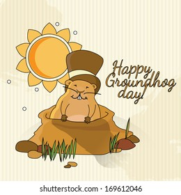 Postcard to Groundhog Day / Congratulations to the end of winter and beginning of spring