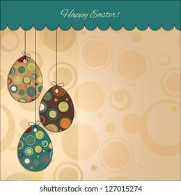 Postcard: Happy Easter. Easter eggs