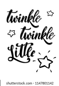 Hand Lettered Quote Twinkle Twinkle Little Stock Illustration