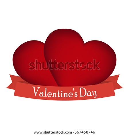 5b0779f863e Postcard Red Heart On Valentine S Stock Vector (Royalty Free ...