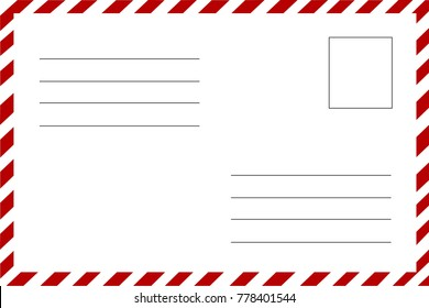 Greeting card traditional postcard lines name stock vector royalty postcard the reverse side lines for writing address and name the postal envelope m4hsunfo