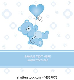 Postcard Teddy Love