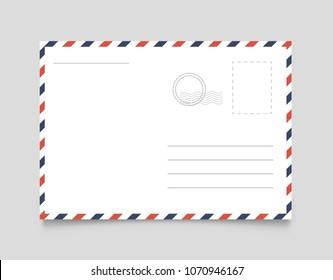 Postcard template. Vector illustration