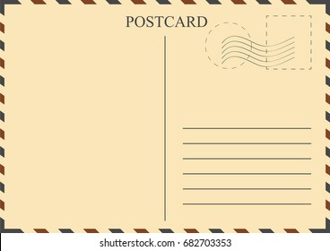 Vintage style postcard template blank stamps stock illustration postcard template vintage postcard with stamps vector maxwellsz