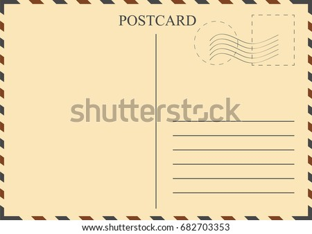 postcard template vintage postcard with stamps vector 27 images of