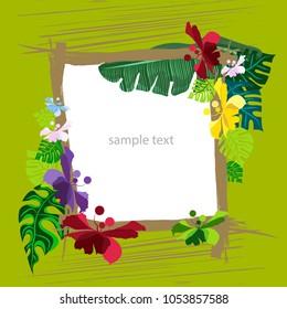 postcard vector flora