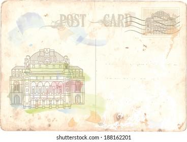 postcard, Vienna, Opera House