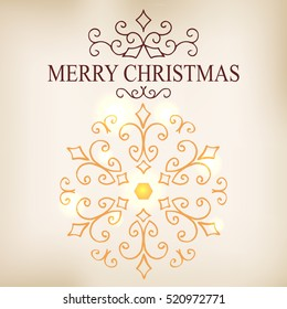 Postcards of christmas symbols for calligraphic holidays collection. Vector illustration