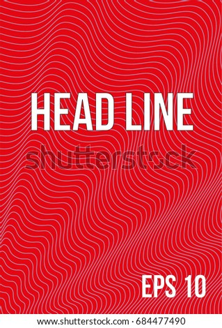Poster Abstract Lines Style 80 S Retroart Stock Vector