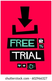 Poster Ad For A Free Trial of an App or a Software Download