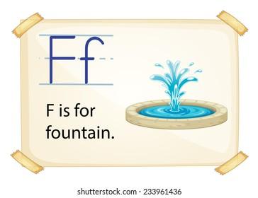 Poster of an alphabet F