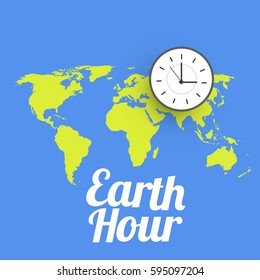 Poster Or Banner Background for Earth Hour.