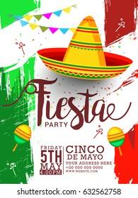 Poster Or Banner Of Cinco De Mayo Celebration Background.