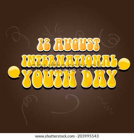 poster banner flyer design international youth stock vector royalty