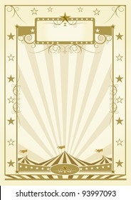 Poster with big top. a background for a poster (Circus theme)