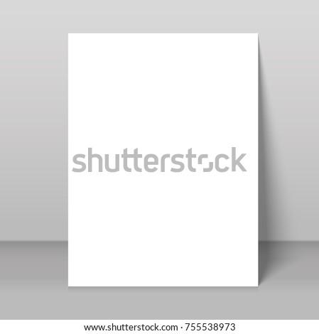 poster blank bi fold brochure mockup stock vector royalty free