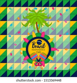 Poster of brazil independence day - Vector illustration