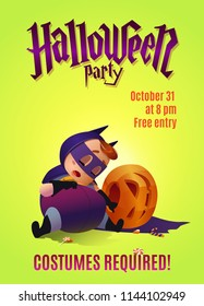Poster for the celebration of Halloween