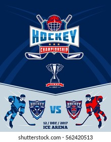 Poster of the championship in ice hockey