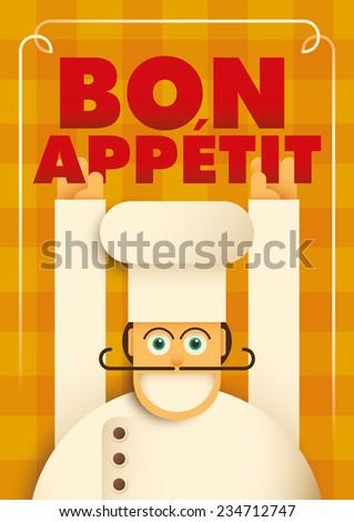 ac505d648ba32 Poster Comic Chef Vector Illustration Vector de stock (libre de ...