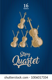 Poster for the concert of classical music (string quartet)