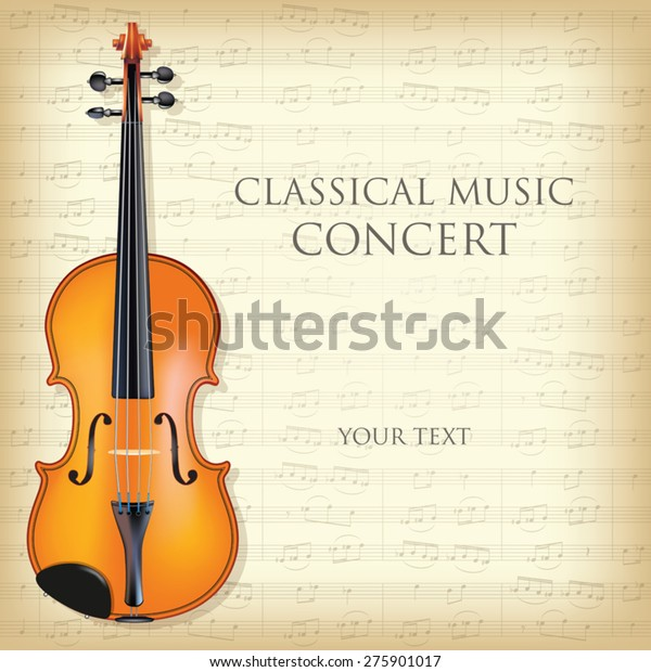 Poster Concert Classical Music Violin Vector Stock Vector