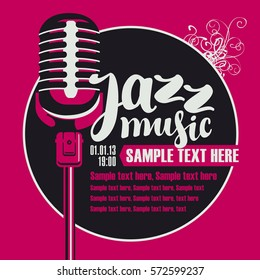 poster for a concert of jazz music with a microphone
