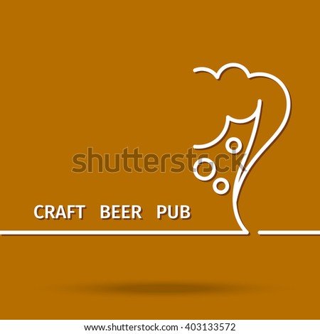 poster craft beer bar designed minimalist stock vector royalty free