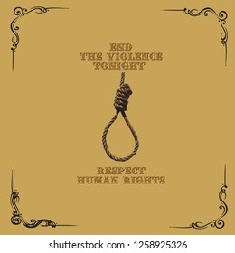 Poster for December 10 - End the Violence tonight, Respect Human Rights