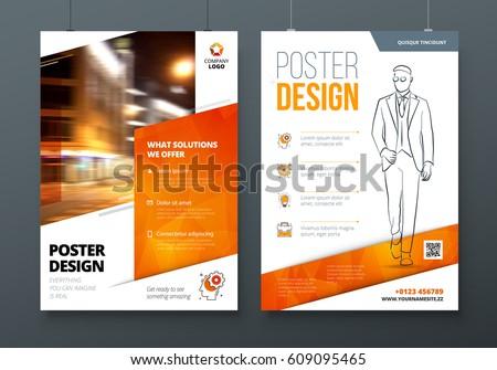 Poster Design A 3 A 2 A 1 Orange Stock Vector (Royalty Free ...