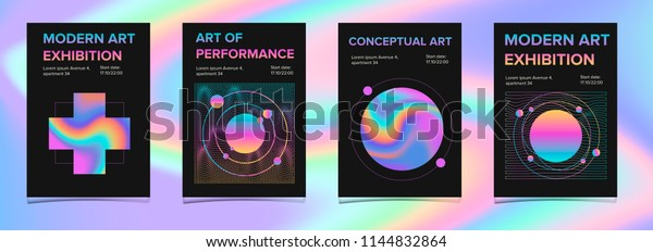 Poster Design Event Art Exhibition Music Stock Vector Royalty Free