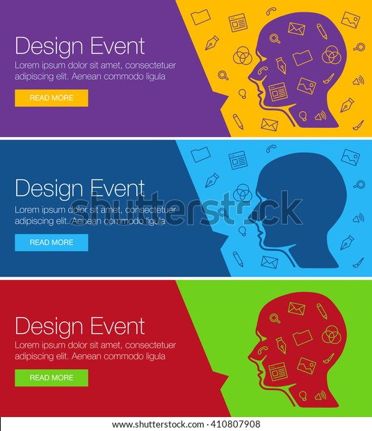 Poster Design Event Online Course Training Stock Vector ...