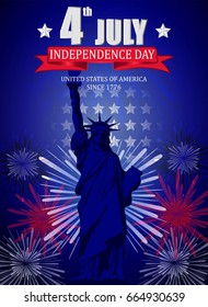 Poster design for Fourth of July Independence Day