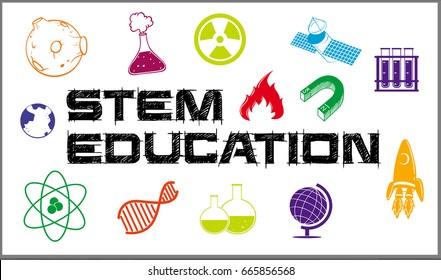 Poster design for stem education illustration