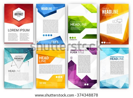 poster design template set abstract modern stock vector royalty
